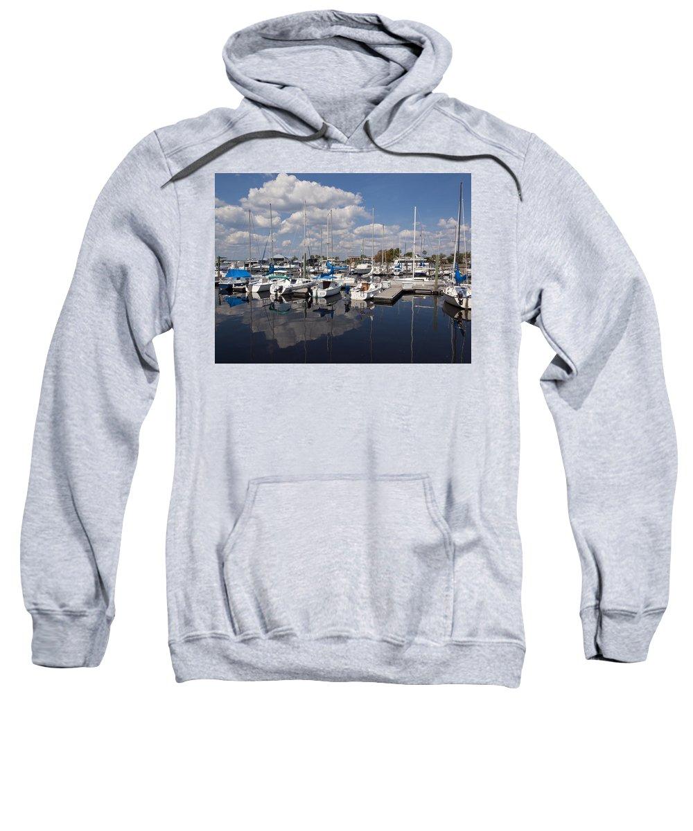 Lake Sweatshirt featuring the photograph Lake Monroe At The Port Of Sanford Florida by Allan Hughes