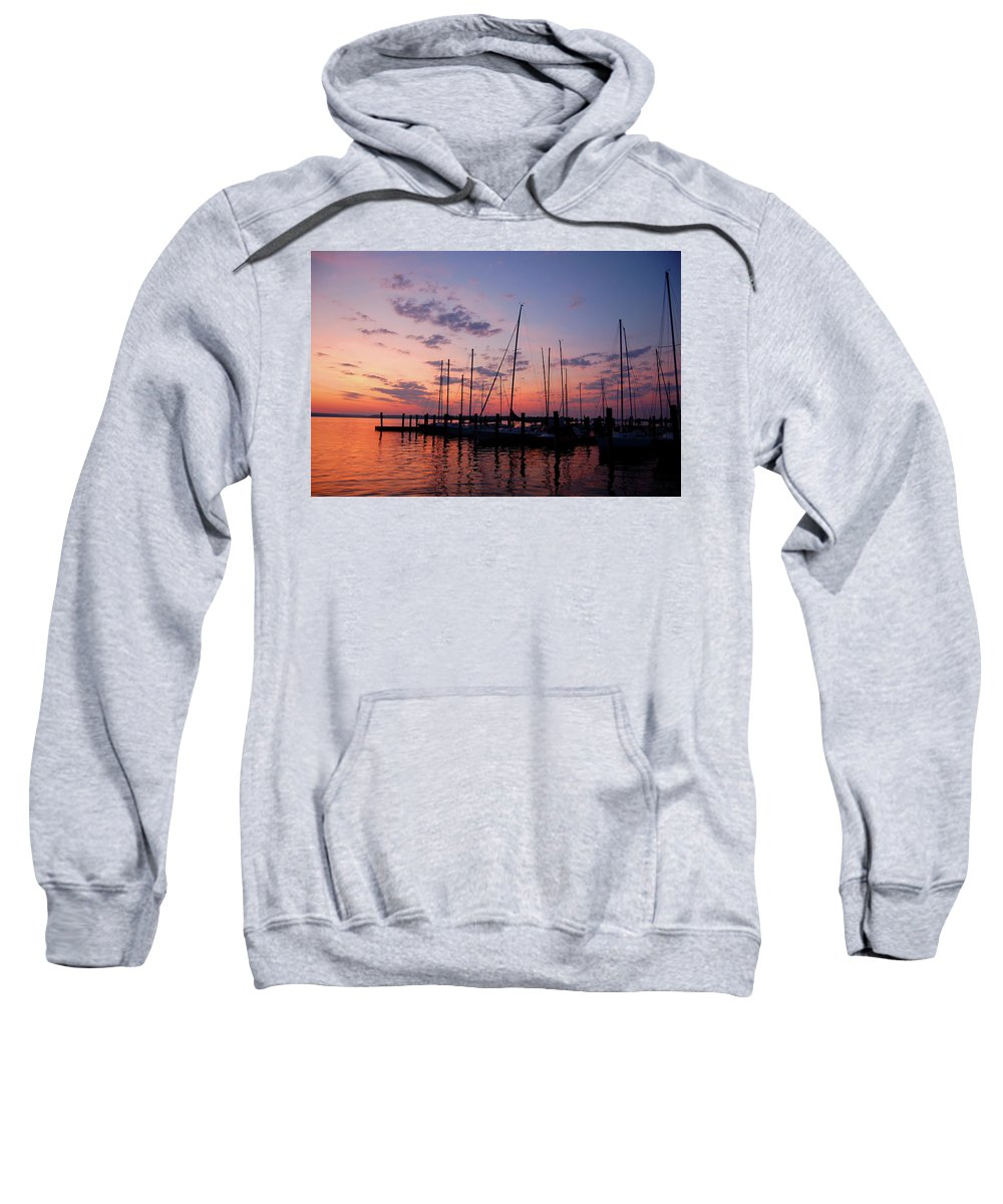 Sunset Sweatshirt featuring the photograph Lake Norman Sunset by Kevin Work