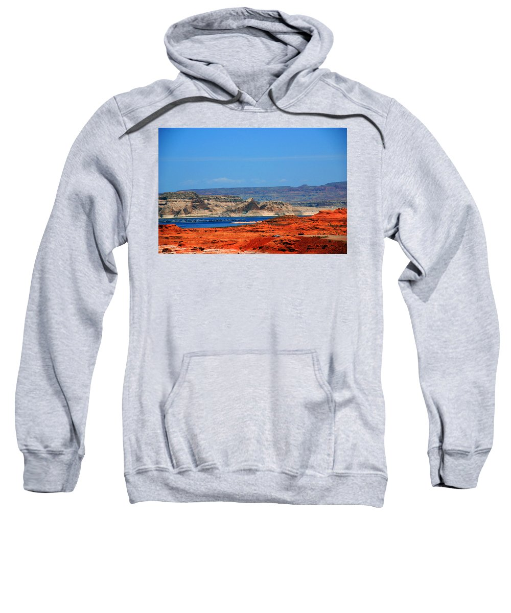 Photography Sweatshirt featuring the photograph Lake Powell Utah by Susanne Van Hulst