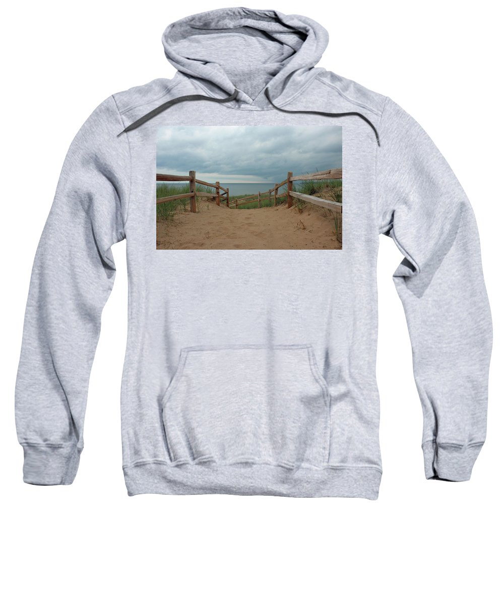 Beach Sweatshirt featuring the photograph Lake Superior Access by Paul A Williams