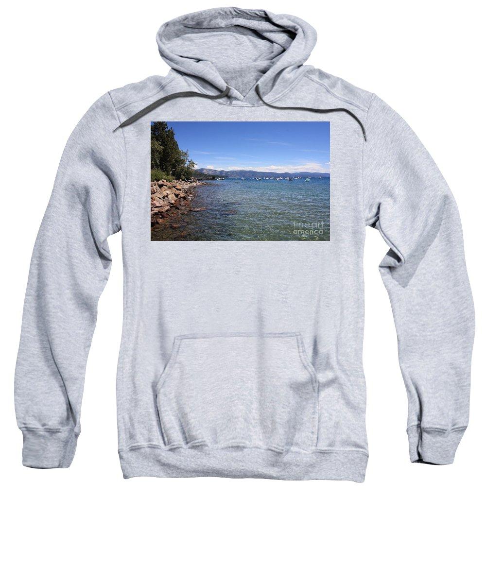Lake Tahoe Sweatshirt featuring the photograph Lake Tahoe Waterscape by Carol Groenen