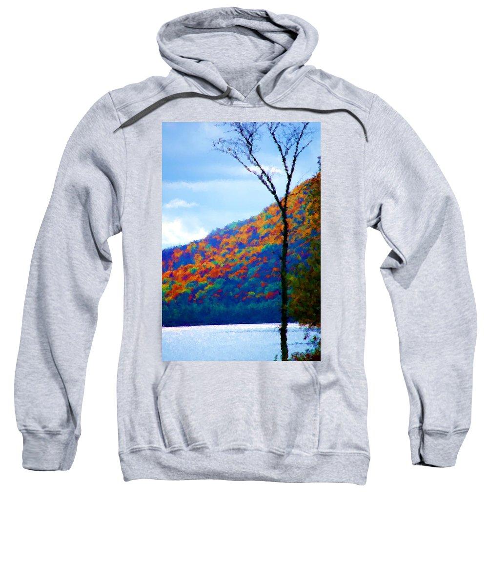 Digital Photograph Sweatshirt featuring the photograph Lakeside by David Lane