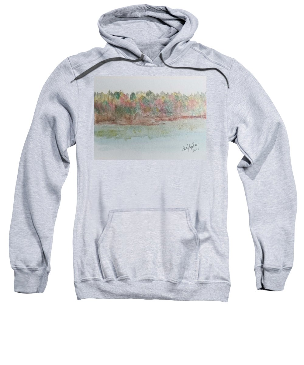 Sweatshirt featuring the painting Lakeview by Jan Marie