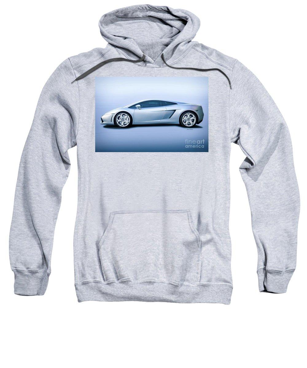 Auto Sweatshirt featuring the photograph Lamborghini Gallardo 'profile Of Terror' by Dave Koontz