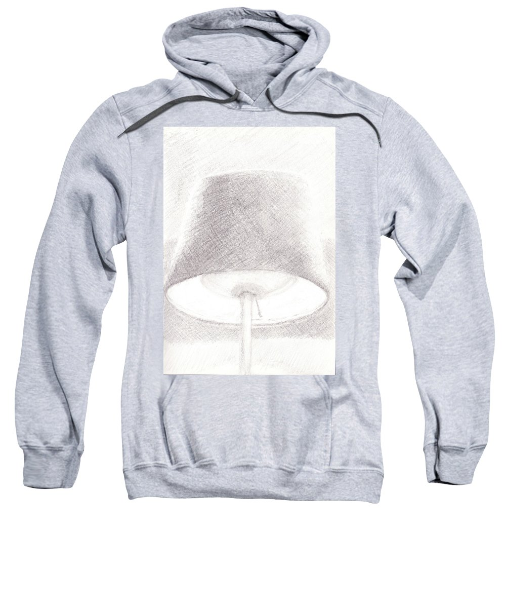 Sketch Sweatshirt featuring the drawing Lamp by James Ath