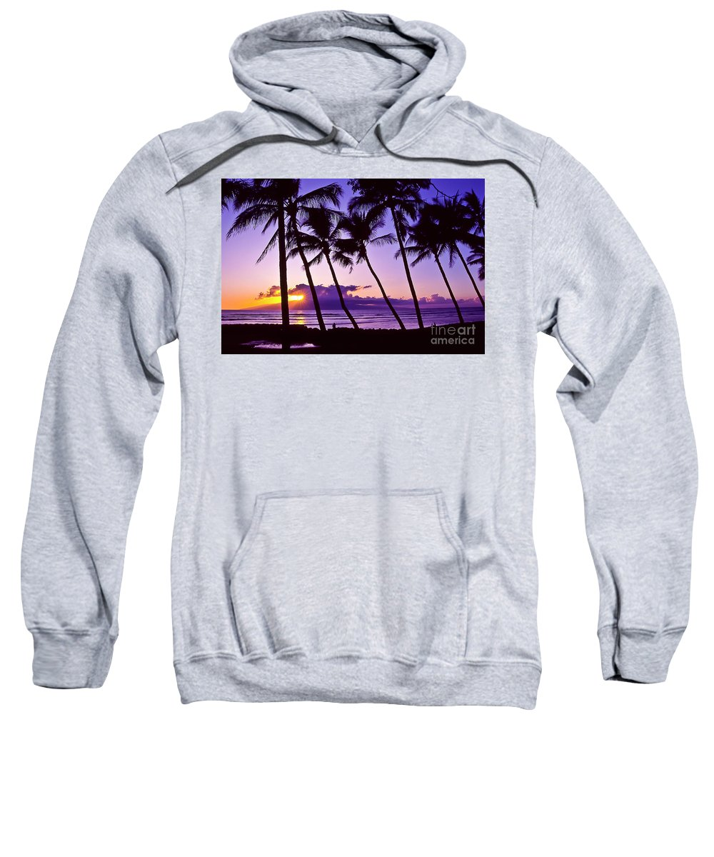 Landscapes Sweatshirt featuring the photograph Lanai Sunset by Jim Cazel