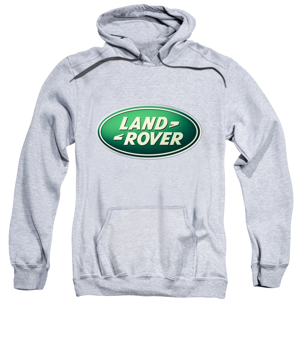 Land Rover Sweatshirt featuring the digital art Land Rover Emblem by T Shirts R Us -