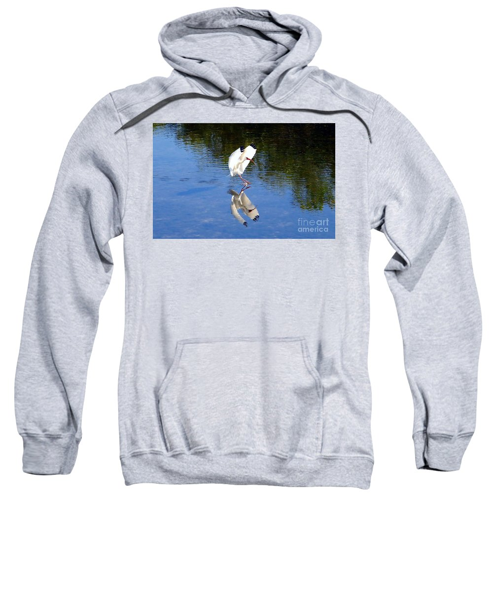 Landing Sweatshirt featuring the photograph Landing by David Lee Thompson