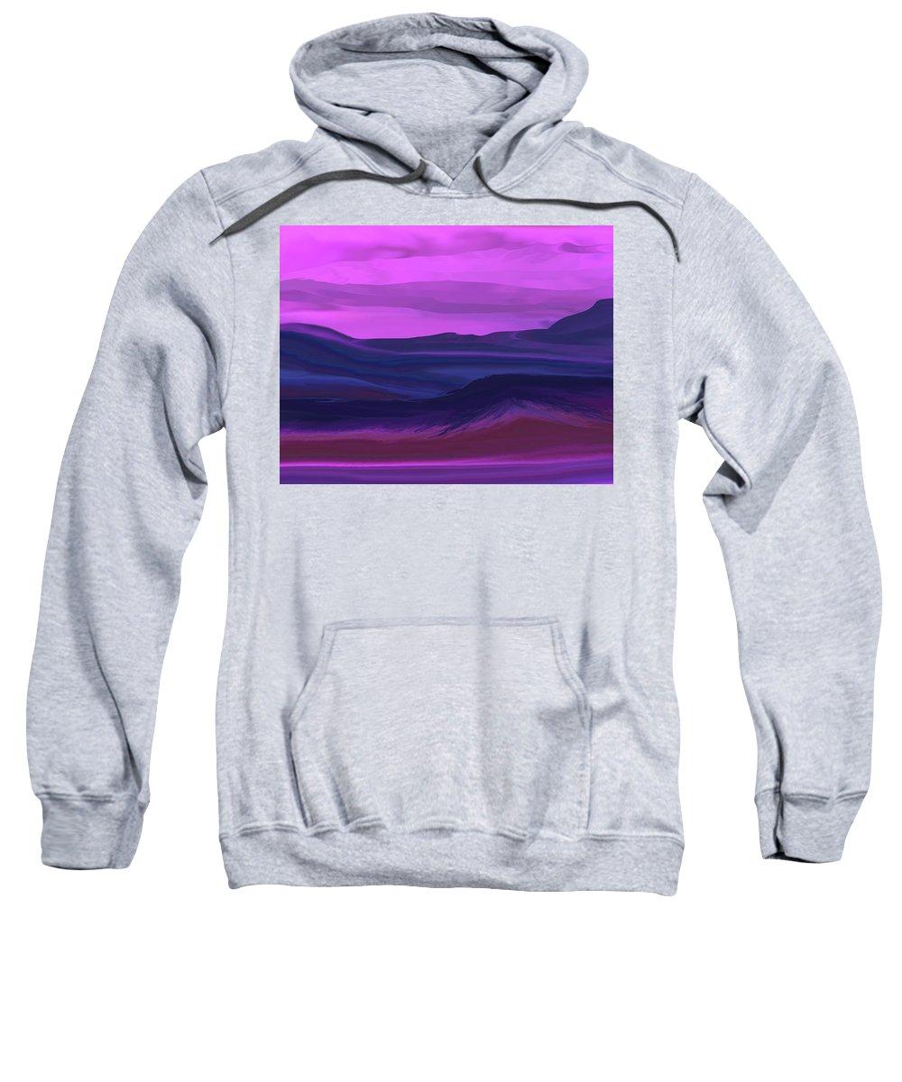 Fine Art Sweatshirt featuring the digital art Landscape 022011 by David Lane