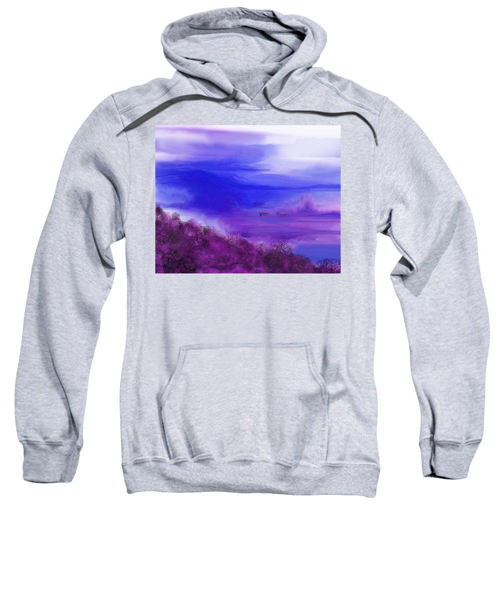 Fine Art Sweatshirt featuring the digital art Landscape 081610 by David Lane