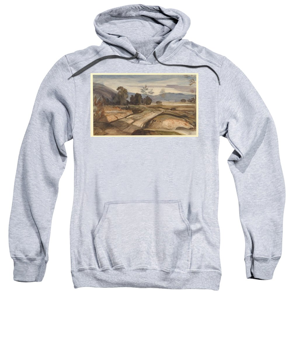 Landscape Sweatshirt featuring the painting Landscape by MotionAge Designs