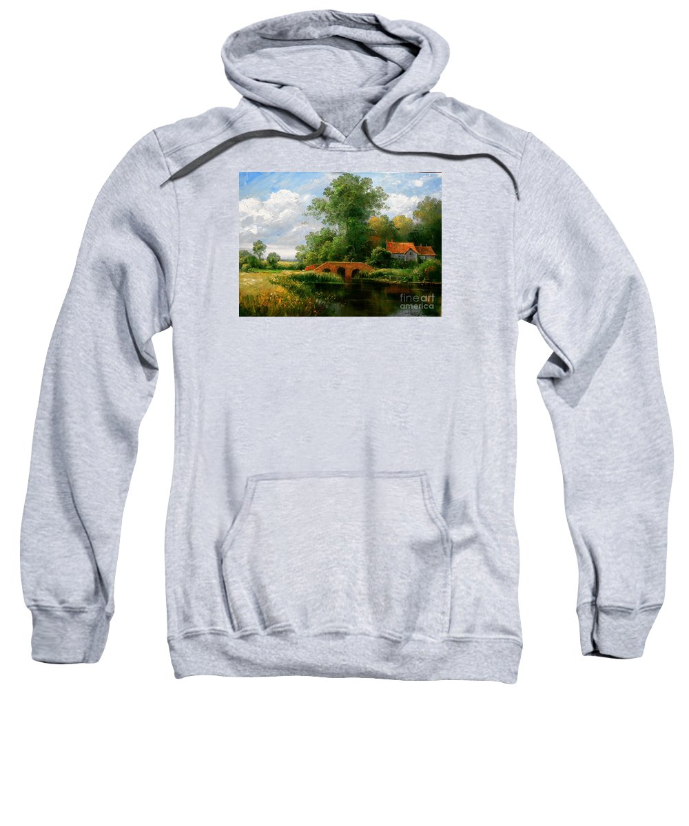 Landscape Sweatshirt featuring the painting Landscape by Arthur Braginsky