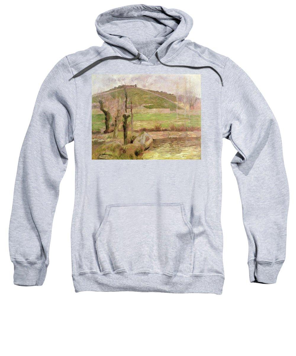 Landscape Near Pont-aven Sweatshirt featuring the painting Landscape Near Pont Aven by Paul Gauguin