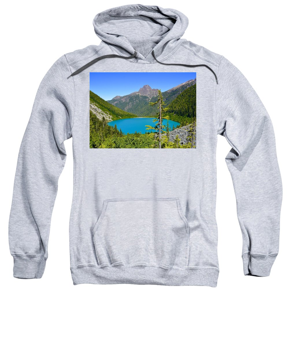 Landscape Sweatshirt featuring the photograph Landslide Lake by Christopher Branting