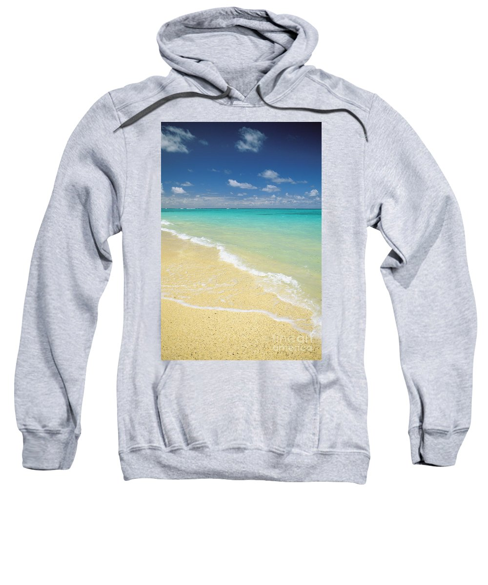 Afternoon Sweatshirt featuring the photograph Lanikai Blue by Dana Edmunds - Printscapes