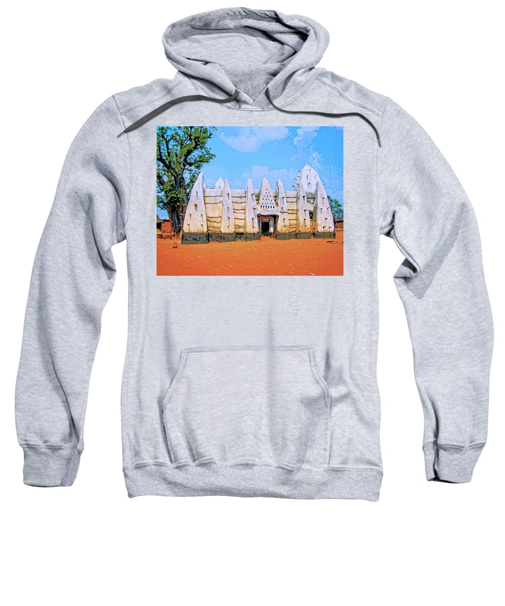 Africa Sweatshirt featuring the mixed media Larabanga Mosque by Dominic Piperata