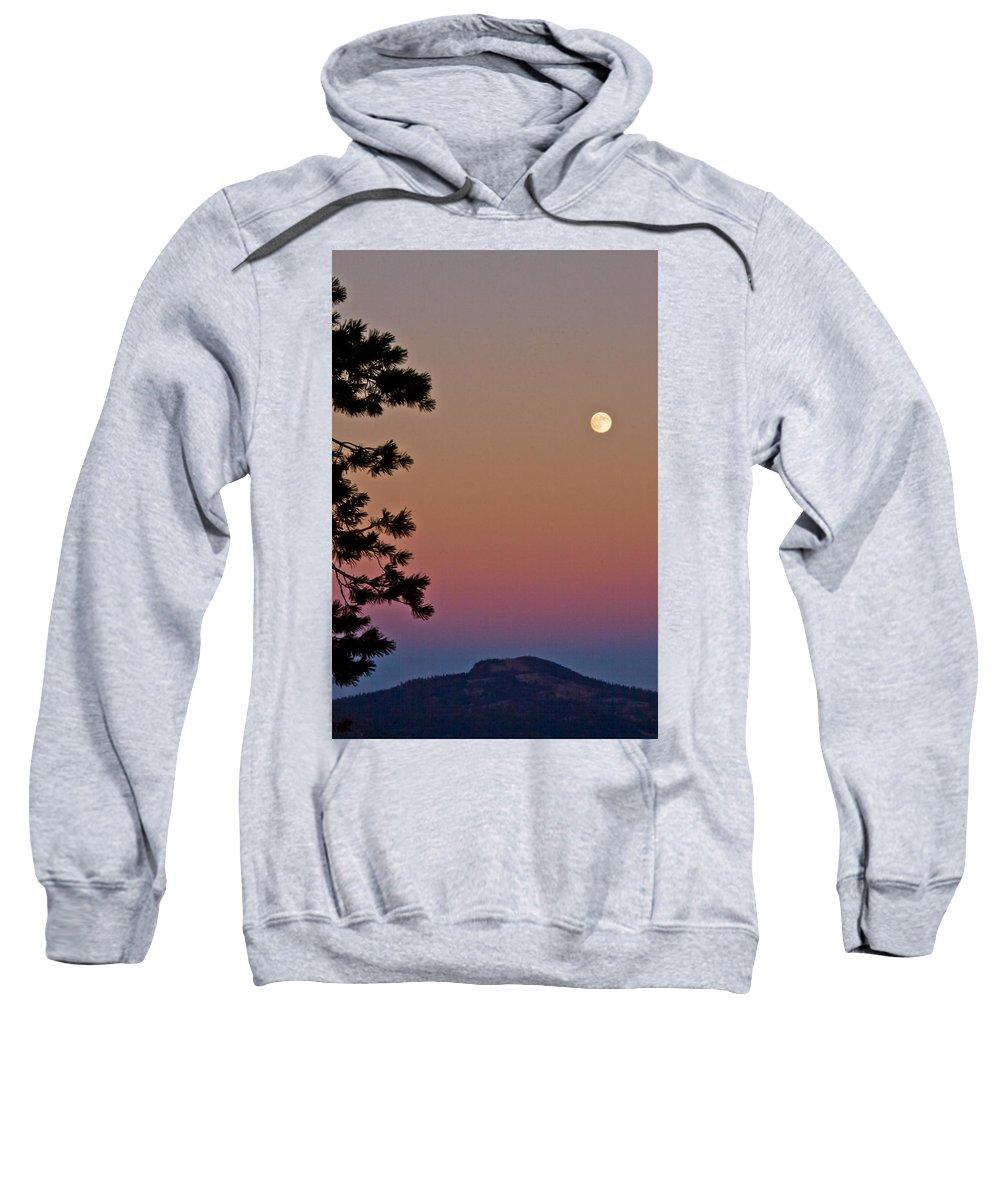 Full Moon Sweatshirt featuring the photograph Lassen Sunset by Albert Seger
