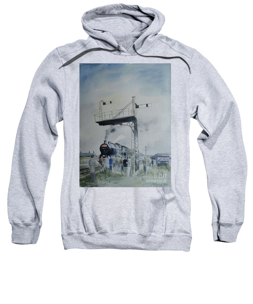 Steam Sweatshirt featuring the painting Last Days by Martin Howard