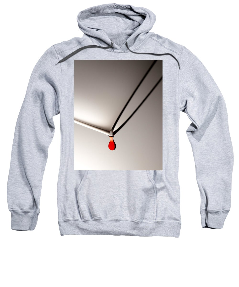 Wine Sweatshirt featuring the photograph Last Drop by Daniel Troy