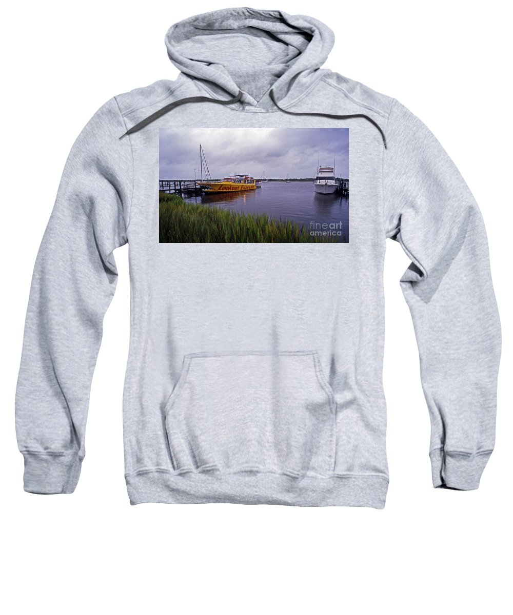 Scenic Tours Sweatshirt featuring the photograph Last Ferry To Lookout by Skip Willits