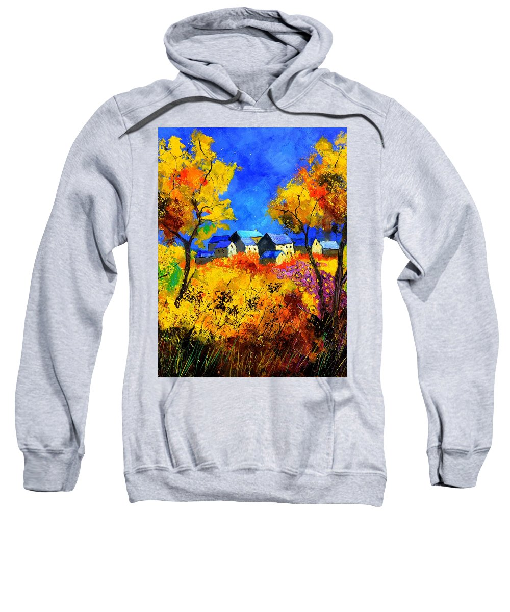 Landscape Sweatshirt featuring the painting Late Summer 885180 by Pol Ledent
