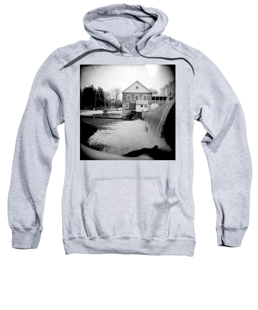 Photograph Sweatshirt featuring the photograph Laughlin Mill by Jean Macaluso