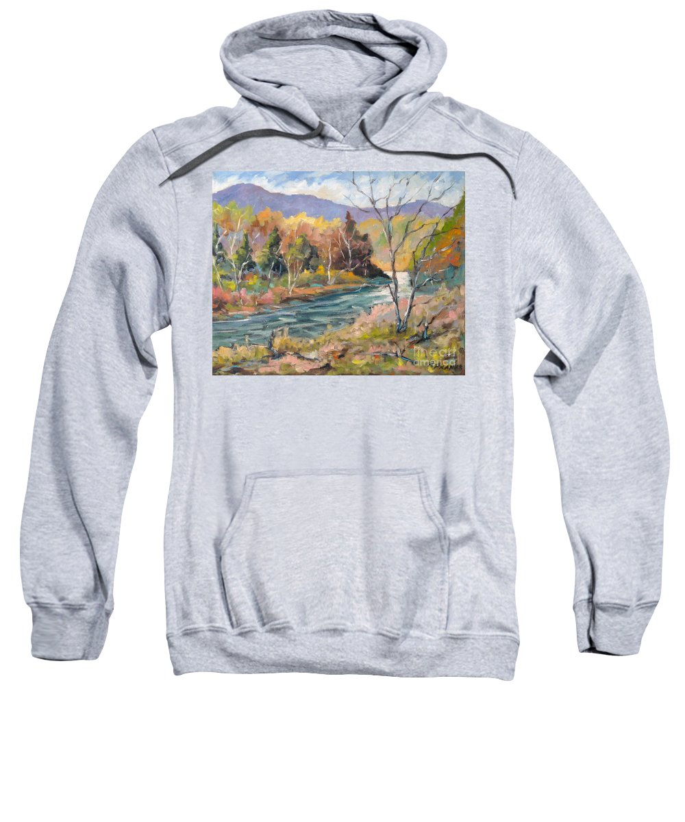 Landscape Sweatshirt featuring the painting Laurentian Hills by Richard T Pranke