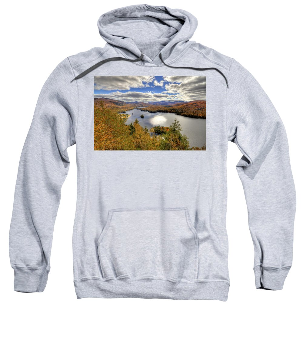 Autumn Sweatshirt featuring the photograph Laurentian Mountains II by Mircea Costina Photography