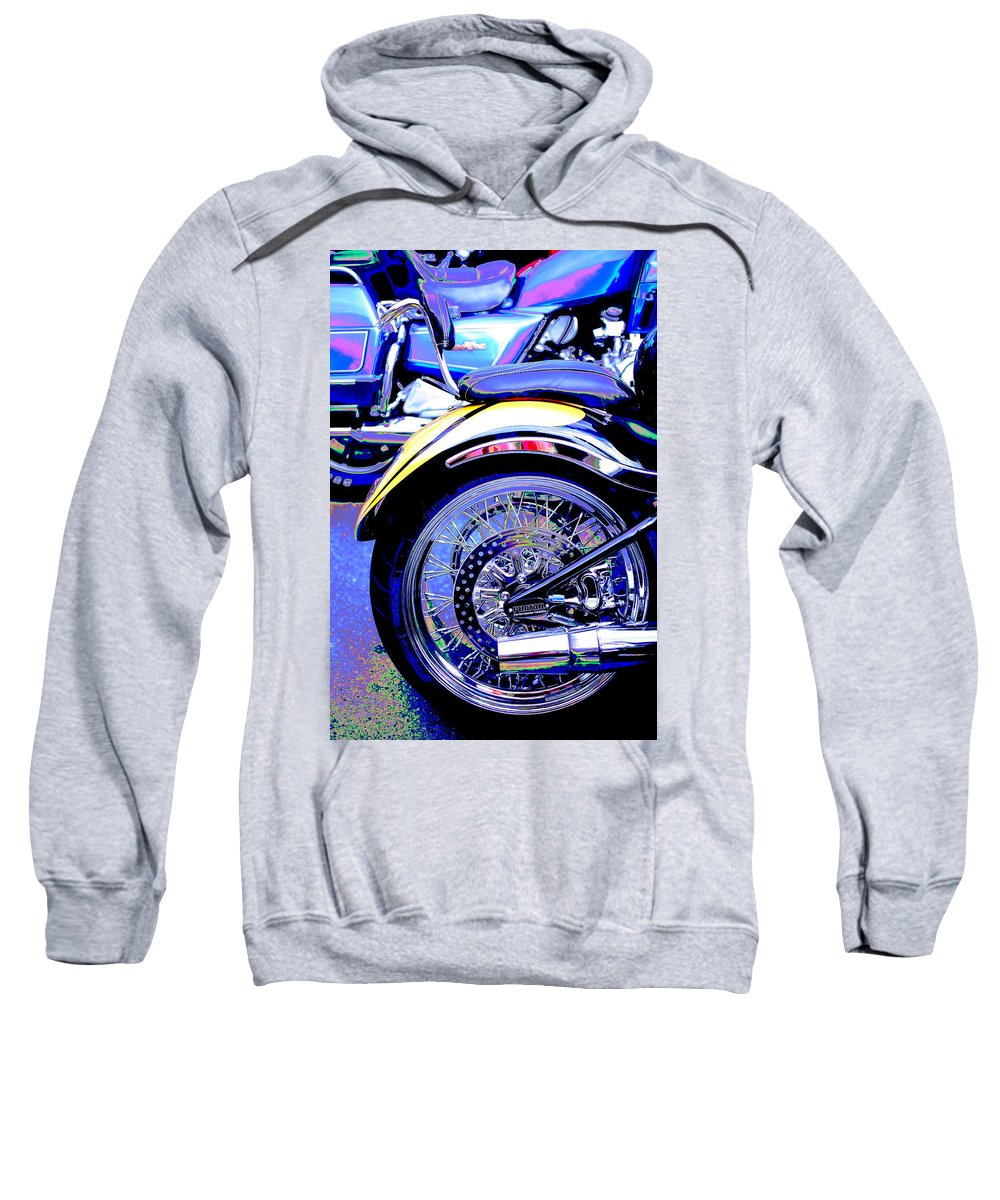 Motorcycles Sweatshirt featuring the photograph Lavender Run by Tammy Hankins