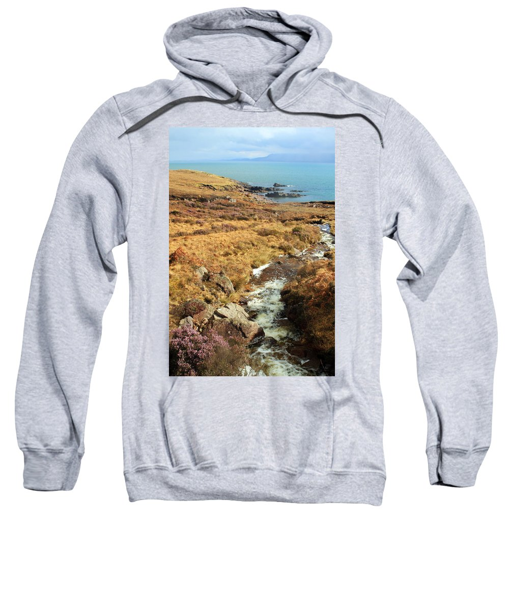 Creek Sweatshirt featuring the photograph Lavender Flowers by Jennifer Robin