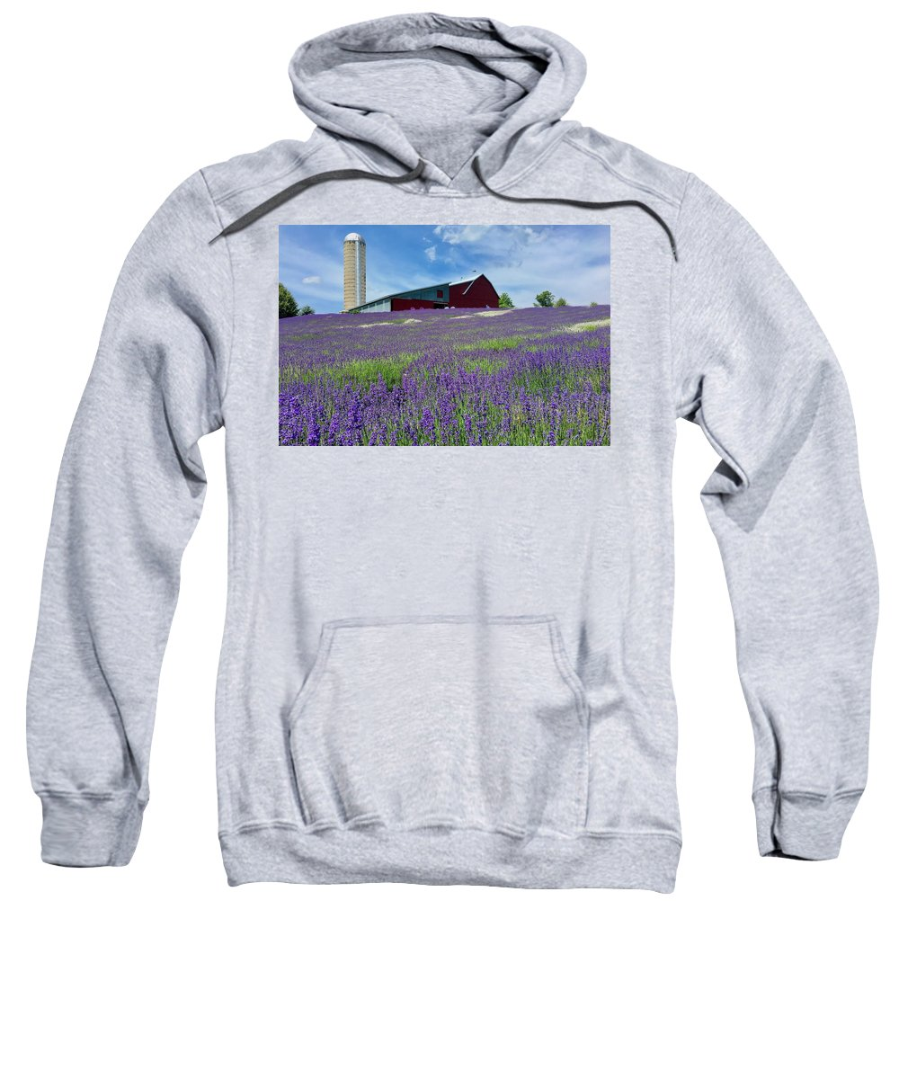 Lavender Sweatshirt featuring the photograph Lavender Fields by Megan Noble