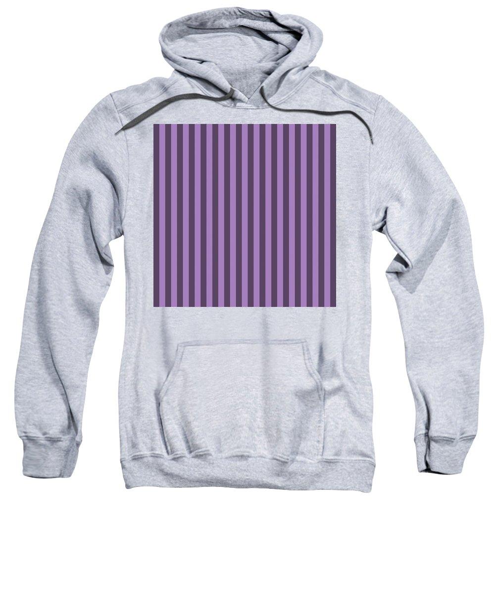 Lavender Sweatshirt featuring the digital art Lavender Purple Striped Pattern Design by Ross