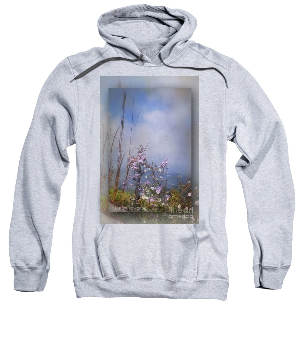 Flowers Sweatshirt featuring the photograph Layers Of Wildflowers by Kathy Russell