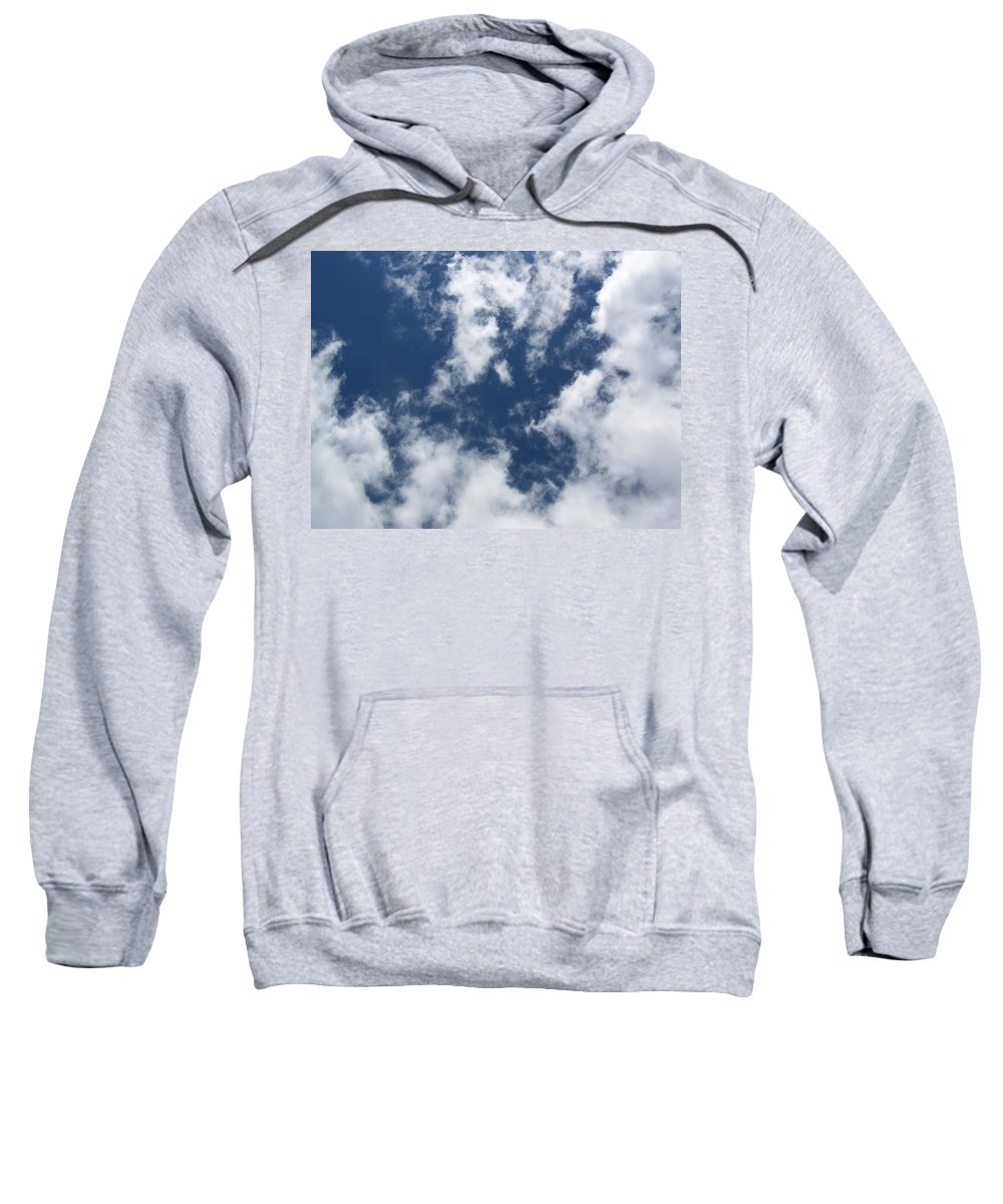 Clouds Sweatshirt featuring the photograph Laying Around Looking Up by Erin Rosenblum