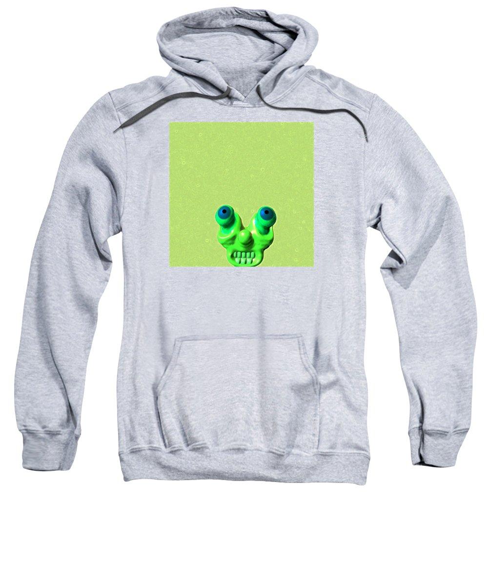 Lazy Sweatshirt featuring the digital art Lazy Alien by James Melton