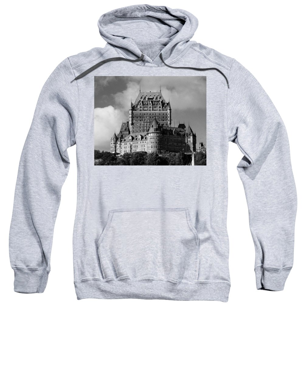 North America Sweatshirt featuring the photograph Le Chateau Frontenac - Quebec City by Juergen Weiss