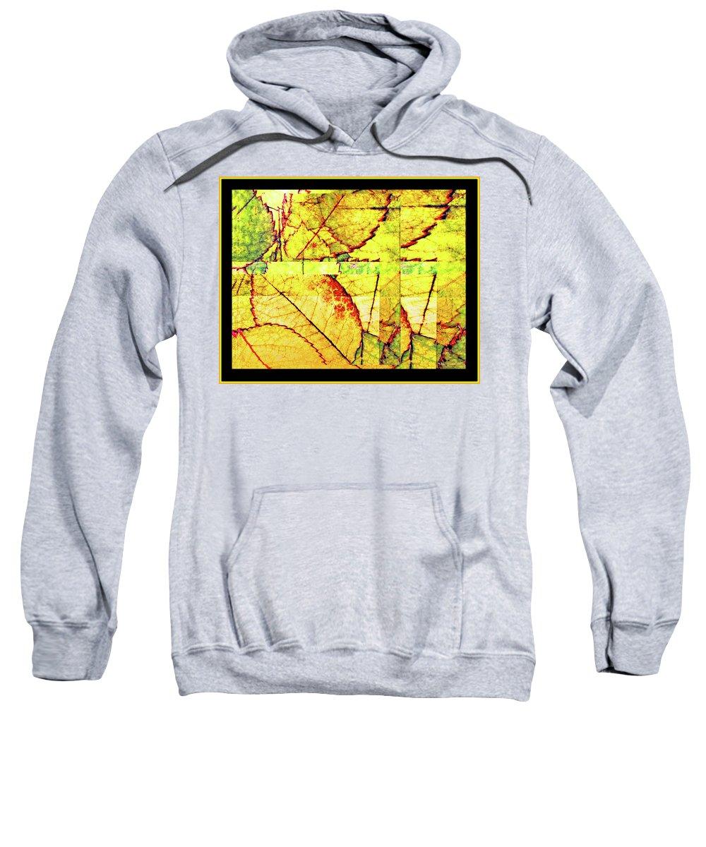 Autumn Sweatshirt featuring the digital art Leaf Abstract by Joan Minchak