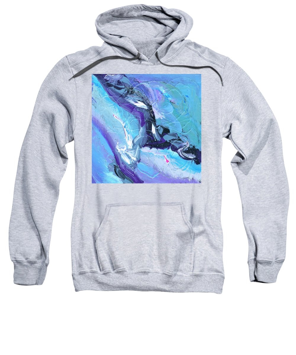 Lleap Sweatshirt featuring the painting Leap by Dominic Piperata