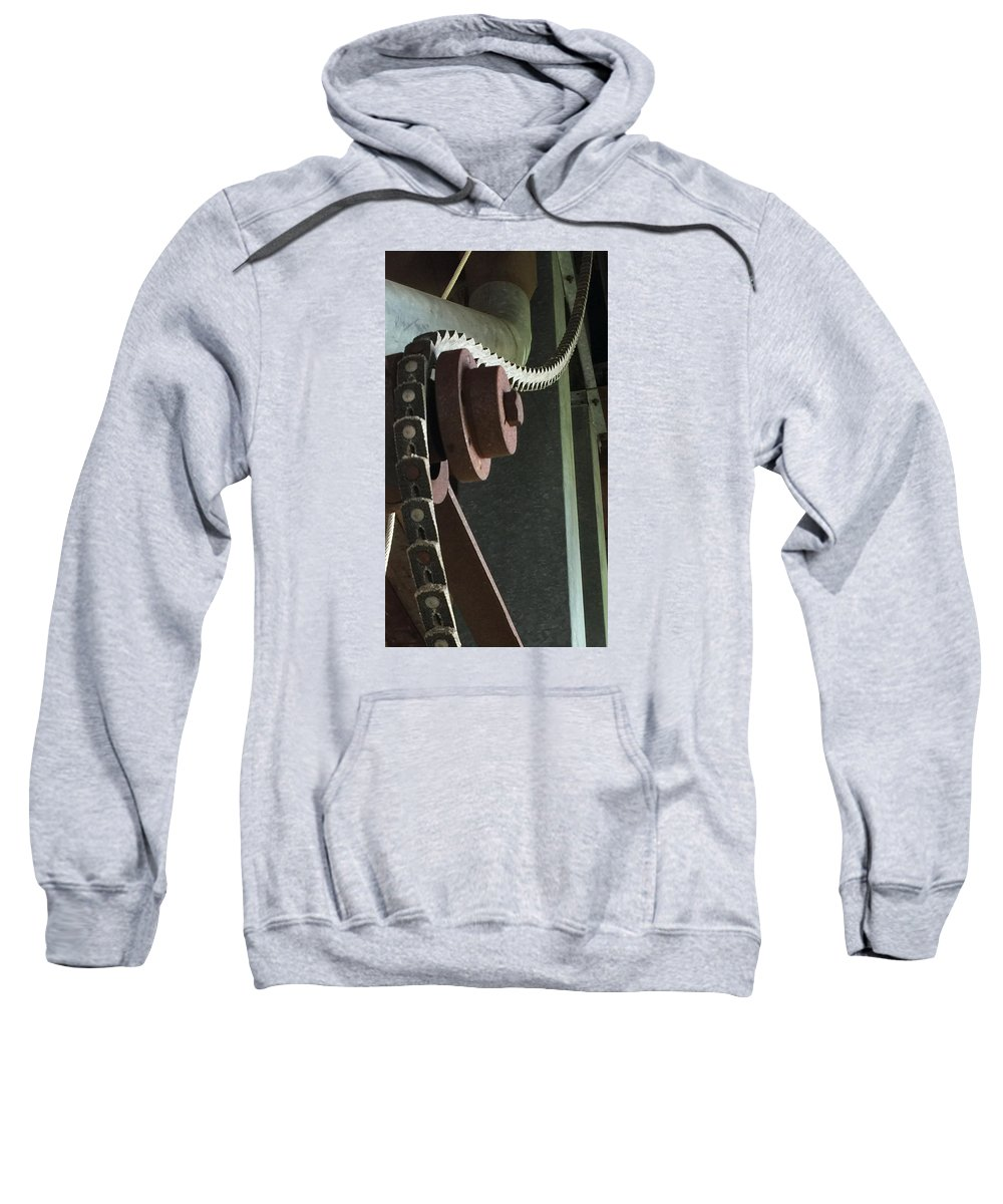 Industry Sweatshirt featuring the photograph Leather Chain by Brad Mullins