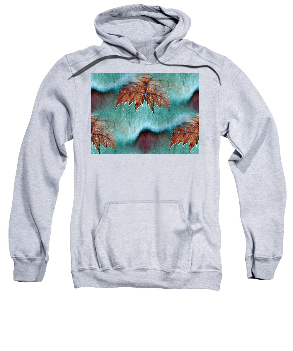Leaves Sweatshirt featuring the photograph Leaves And Rain 6 by Tim Allen