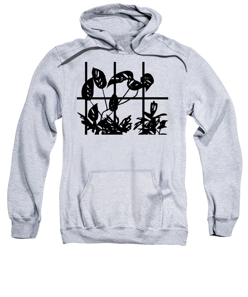 Window Pane Hooded Sweatshirts T-Shirts