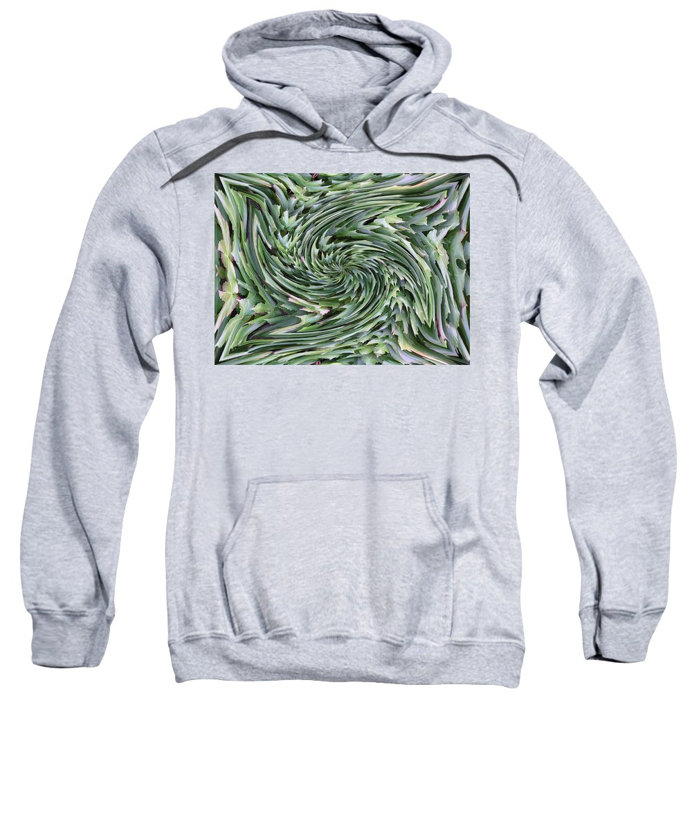 Leaves Sweatshirt featuring the photograph Leaves On Spin Cycle by Tim Allen