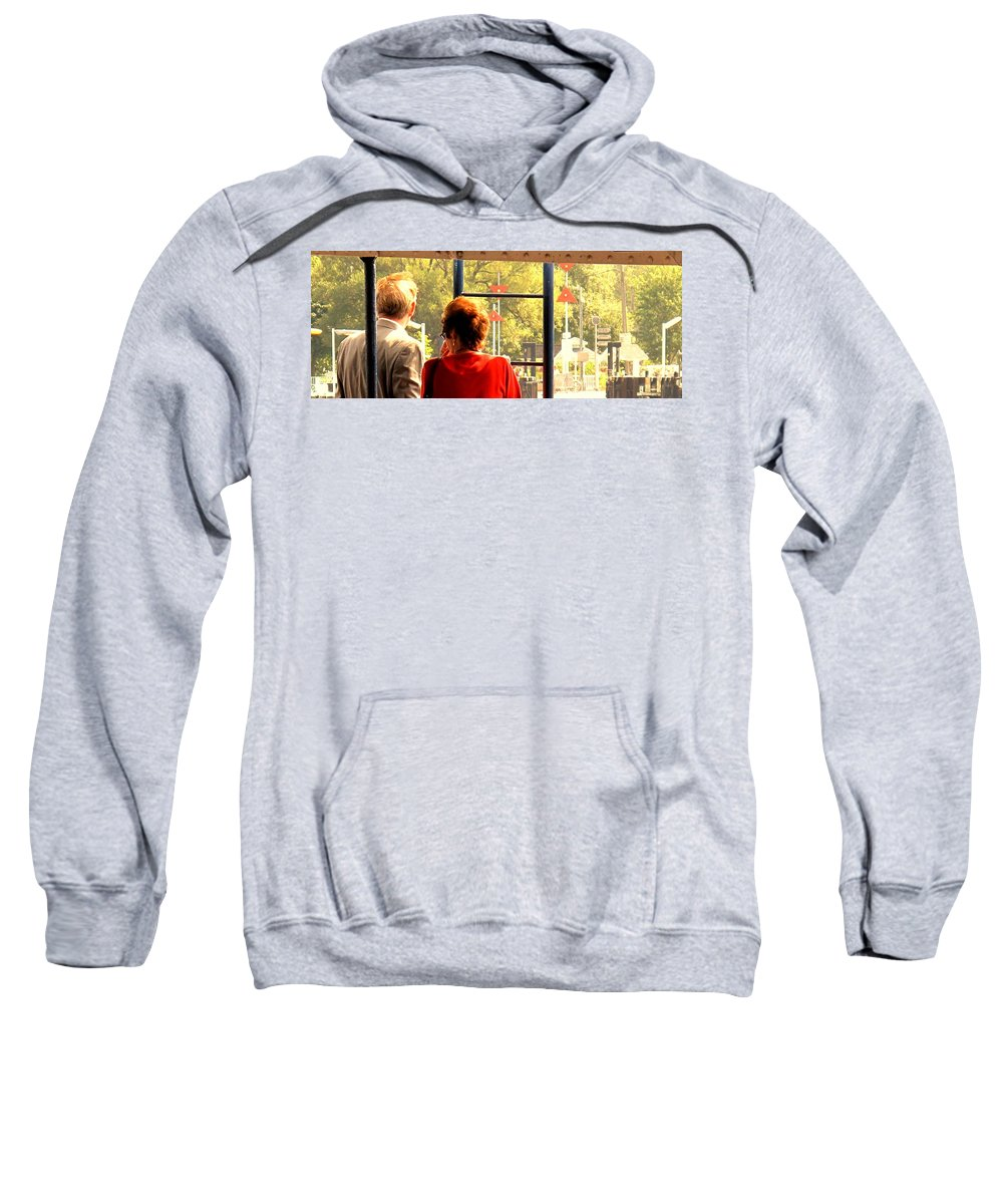 Toronto Sweatshirt featuring the painting Leaving by Ian MacDonald