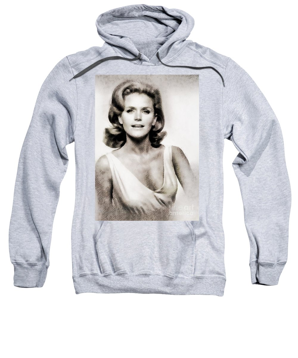Hollywood Sweatshirt featuring the painting Lee Remick, Vintage Actress by John Springfield