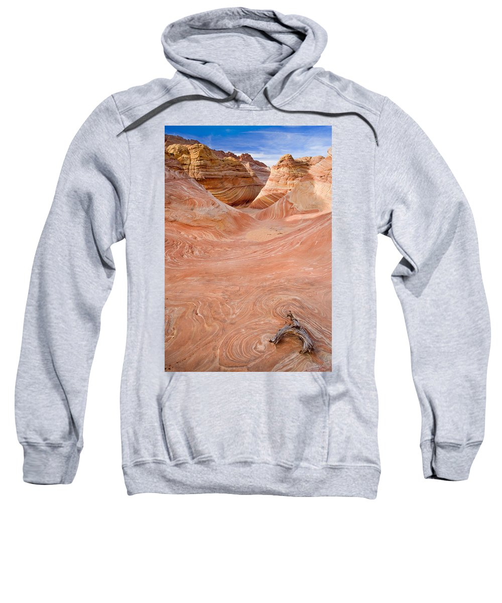 Wave Sweatshirt featuring the photograph Left On The Wave by Mike Dawson