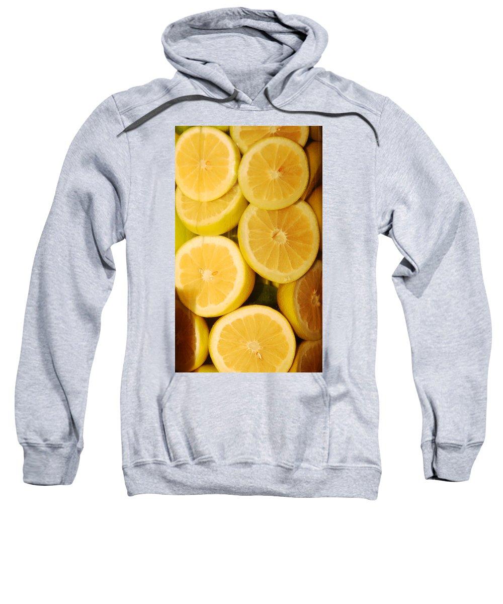 Still Life Sweatshirt featuring the photograph Lemon Still Life by Jill Reger