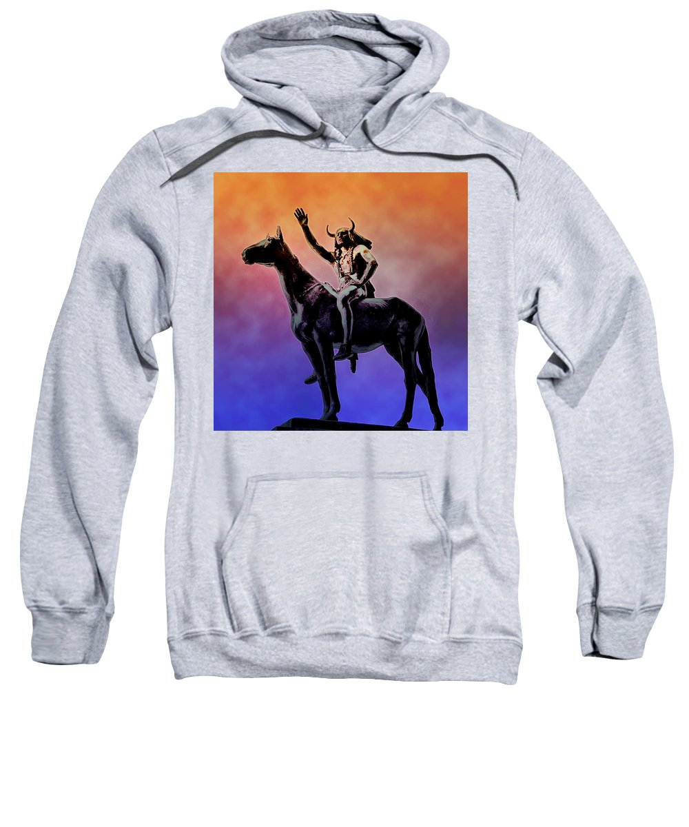 Indian Sweatshirt featuring the photograph Lenape Indian Chief by Bill Cannon