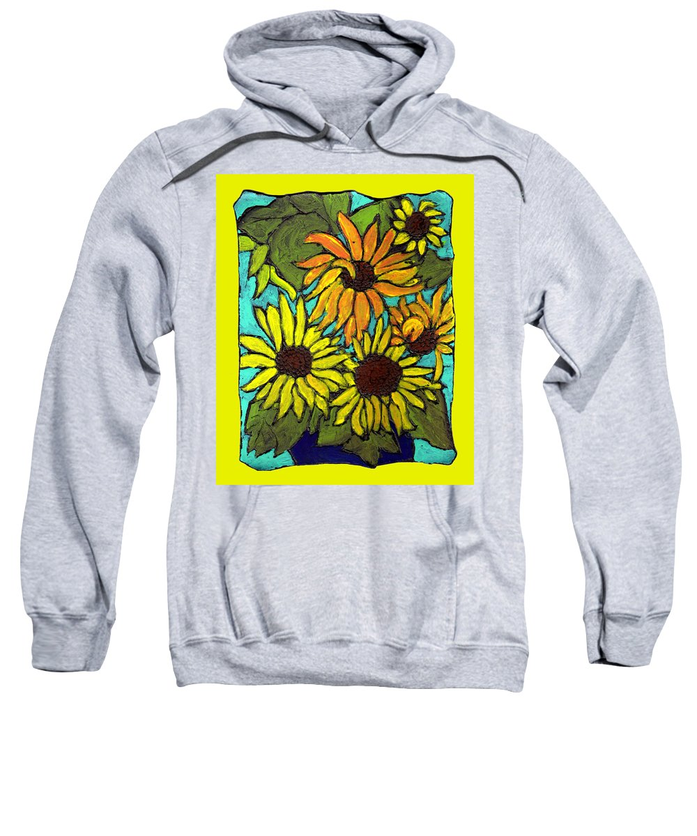 Yellow Sweatshirt featuring the painting Let The Sunshine In by Wayne Potrafka