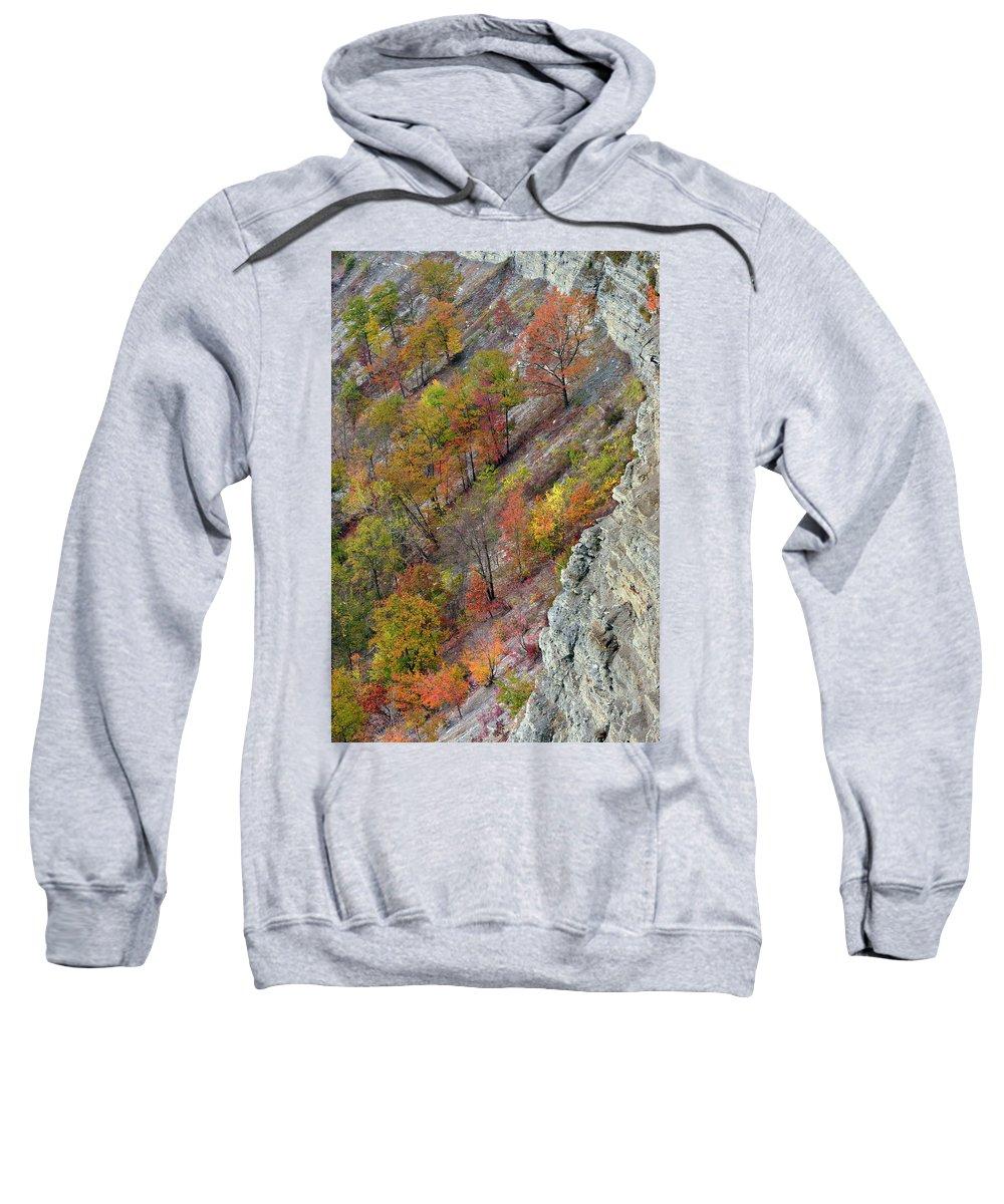 Letchworth Falls State Park Sweatshirt featuring the photograph Letchworth Falls State Park Fall Colors by Dean Hueber