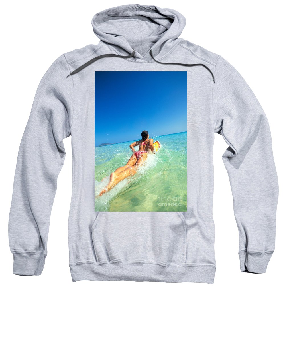 Afternoon Sweatshirt featuring the photograph Lets Go Surfing by Dana Edmunds - Printscapes